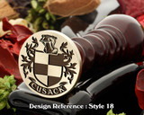 Cosgrove Family Crest Wax Seal D18