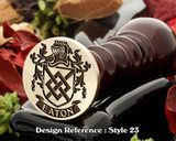 Eaton Family Crest Wax Seal D23