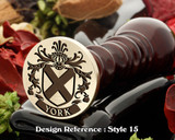 York Family Crest Wax Seal D15