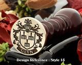 Glyn Family Crest Wax Seal D15