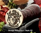 Goodwin Family Crest Wax Seal D23