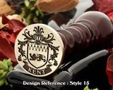 Kent Family Crest Wax Seal D15