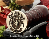 King Family Crest Wax Seal D23