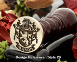Mason Family Crest Wax Seal D23