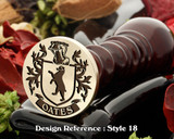 Oates Family Crest Wax Seal D18