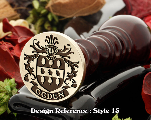 Ogden Family Crest Wax Seal D15