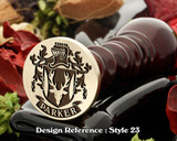 Parker Family Crest Wax Seal D23