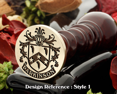 Parkinson Family Crest Wax Seal D1