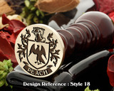Peach Family Crest Wax Seal D18