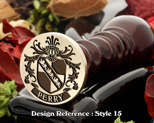 Perry Family Crest Wax Seal D15