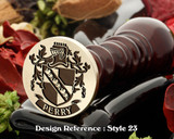 Perry Family Crest Wax Seal D23