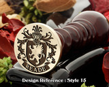 Reade Family Crest Wax Seal D15