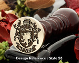 Reade Family Crest Wax Seal D23