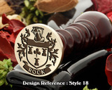 Rock Family Crest Wax Seal D18