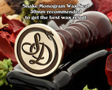 Snake Monogram Wax Seal including Initials example SD
