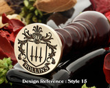 Rollins Family Crest Wax Seal D15