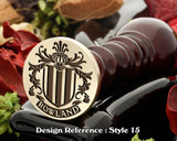 Rowland Family Crest Wax Seal D18