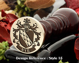 Rye Family Crest Wax Seal D15