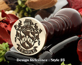 Temple Family Crest Wax Seal D23