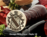 Wallis Family Crest Wax Seal D15
