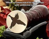 Pheasant in Flight Wax Seal Stamp.