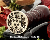Yarrow Family Crest Wax Seal D18