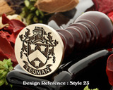 Yeoman Family Crest Wax Seal D23