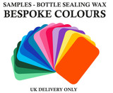 Samples Bottle Sealing Wax, Bespoke Colours - hand mixed to order