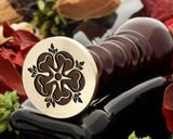 Tudor rose 4 wax seal