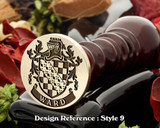 Ward Family Crest Wax Seal D9