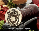 Hanford Family Crest Wax Seal D9