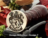 Wallace Family Crest Wax Seal D7