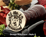 Wilson Family Crest Wax Seal D5