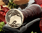 Art Deco D6 wax seal