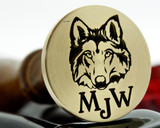 Wolf Wax Seal Stamp Custom Engraved initials extra