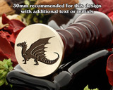 Dragon D4 Wax Seal Stamp