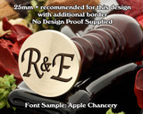 Apple Chancery Initial Wax Seal example R&E