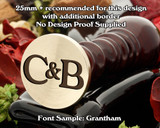 Grantham Initial Wax Seal example C&B