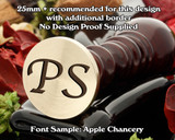Apple Chancery Two Initial Wax Seal