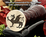 Dragon D12 Wax Seal Stamp