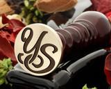 YS Wax Seal Monogram (photo reversed)