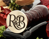 R&B Wax Seal Monogram (photo reversed)