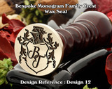 Monogram Family Crest Wax Seal D12 with no name