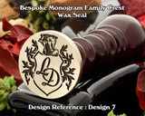 Monogram Family Crest Wax Seal D7 with no name