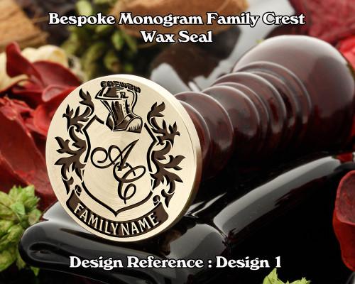 Monogram Family Crest Wax Seal D1