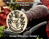 Monogram Family Crest Wax Seal D1