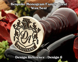 Monogram Family Crest Wax Seal D6