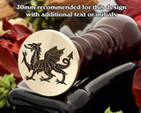 Welsh Dragon D1 Wax Seal Stamp