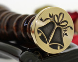 Wedding Bells wax seal stamp extra cost to add text or initials.