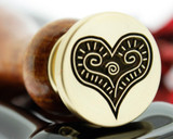 Heart Wax Seal we recommend 25mm size if you wish to add edge text or initials to this design.